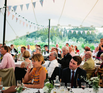 One of our wedding stretch tents at Pythouse Kitchen Garden
