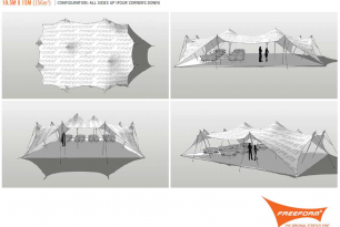 Freeform Stretch tent technical drawings