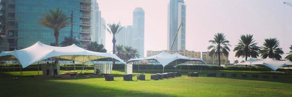 Stretch Tent Hire / Summer Wedding (White Stretch Tent)