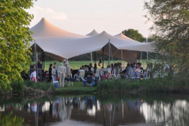 20m x 23m chino stretch tent at music by the lakes