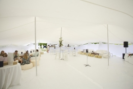 18x15m white stretch tent as bar tent and vip area