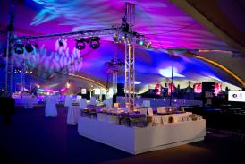 Concert tent interior