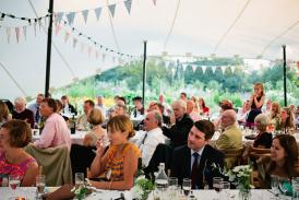 Wedding stretch tent at Pythouse Kitchen garden