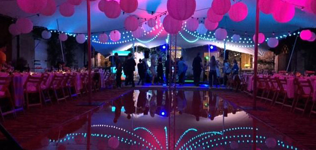 Stretch Marquee Lighting For Weddings