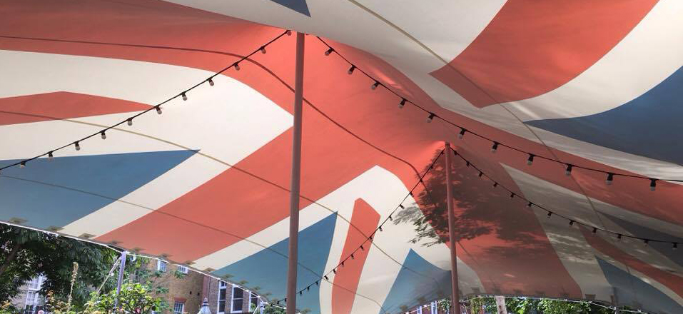 Union Jack Stretch Tent